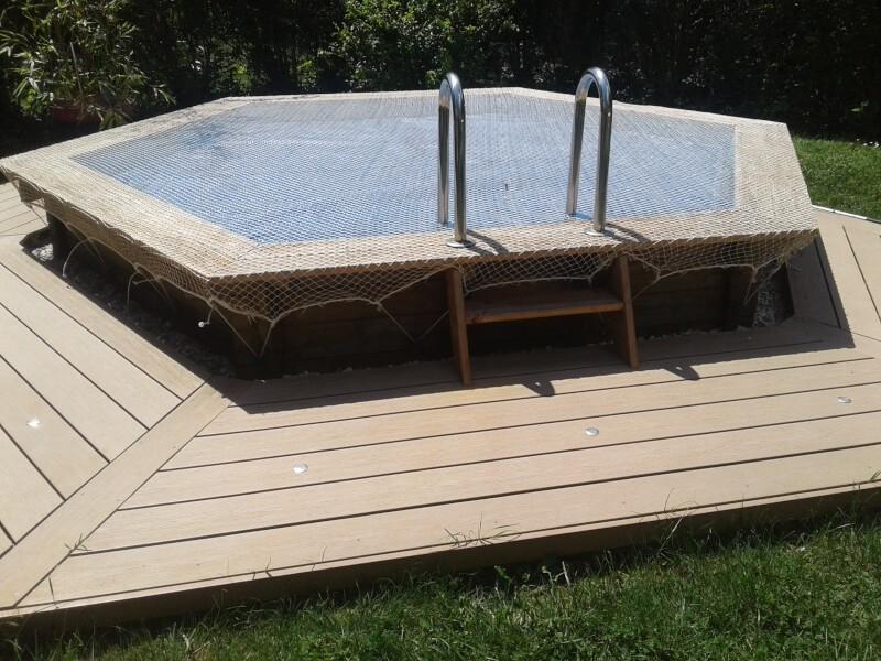 Filet de protection enfants pour recouvrir une piscine