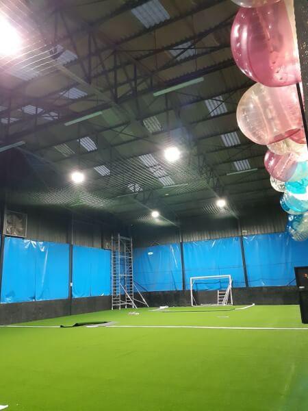 Filet de protection de plafond et d'éclairage foot indoor