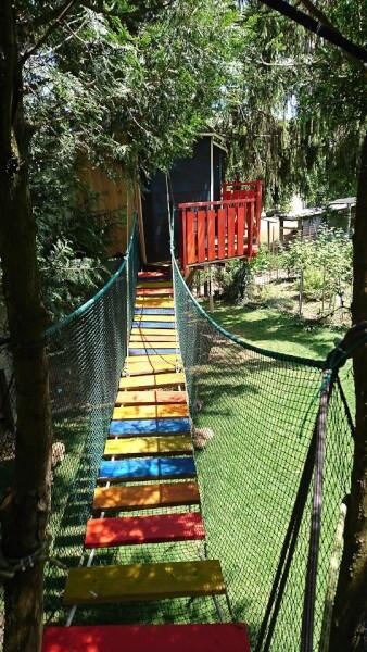 Filet de protection pour parcours dans les arbres pour enfants
