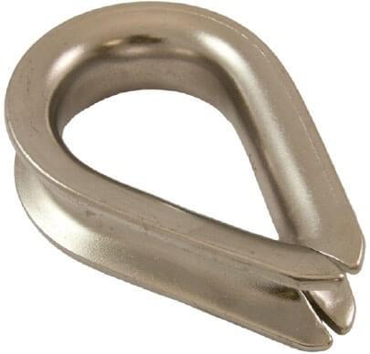 Cosse-coeur en acier galvanisé