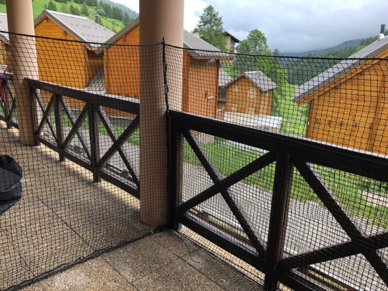 Filet de protection pour chats petites mailles pour balcon