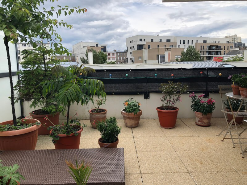 Filet brise-vue noir couleur pour balcon