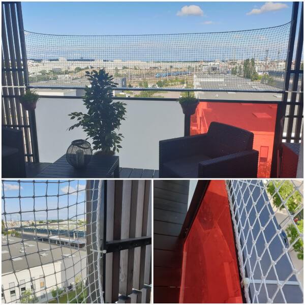 Filet de protection enfants polyamide spécial pour balcon