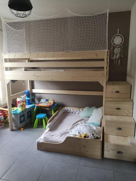 Filet de protection enfants pour lit sur-mesure
