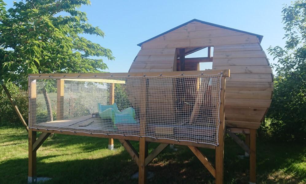 Filet garde-corps spécial enfants pour cabane de jardin