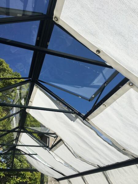Filet d'ombrage pour structure vitrée serre jardin