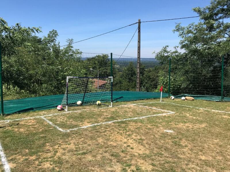Filet pare-ballons pour terrain de foot jardin