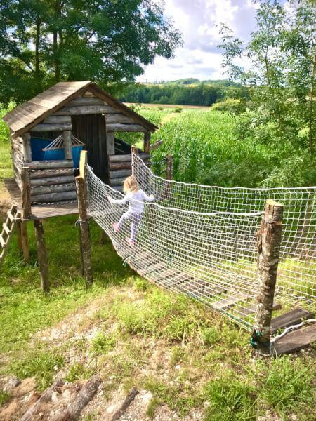 Filet de protection pour cabane et pont de singe jardin