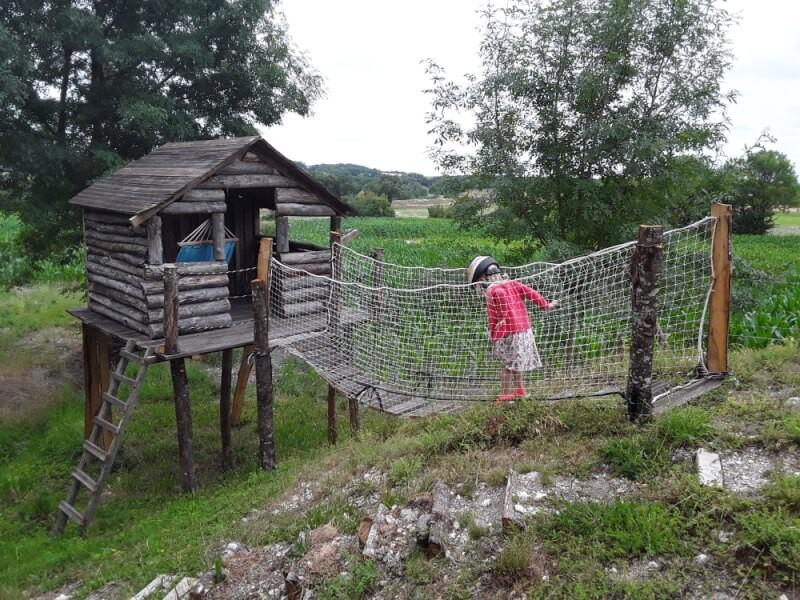Filet de protection pour cabane et pont de singe pour enfants