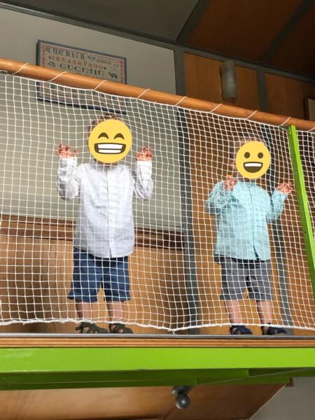 Filet de protection enfant sur un garde corps