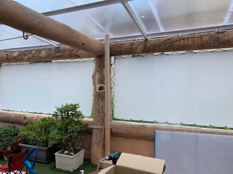 Filet brise-vue blanc pour fermer balcon