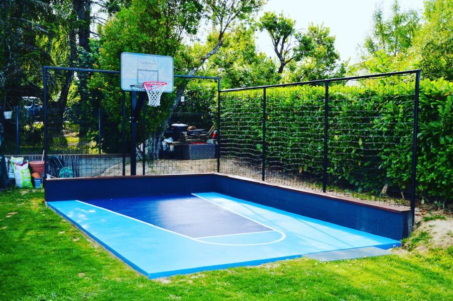 Filet pare-ballons pour mini terrain de basket