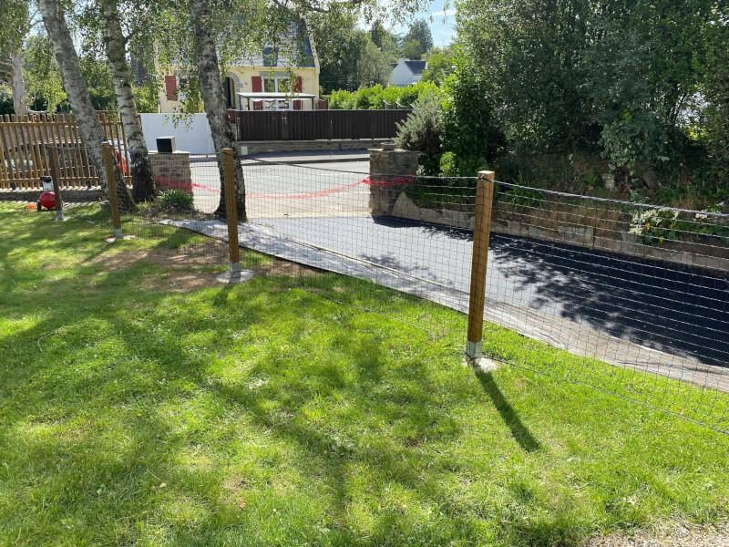 Clôture jardin avec filet pour assistante maternelle