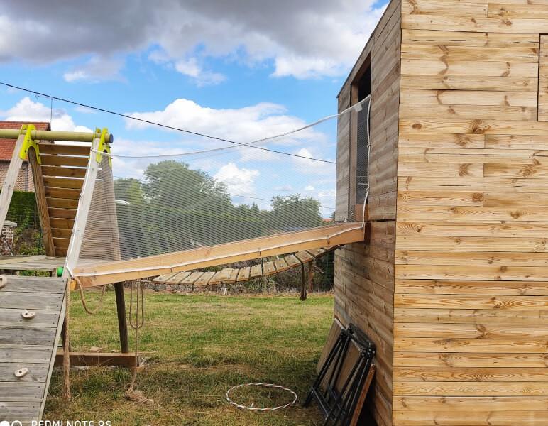 Filet léger et robuste pour cabane en bois jeux enfants
