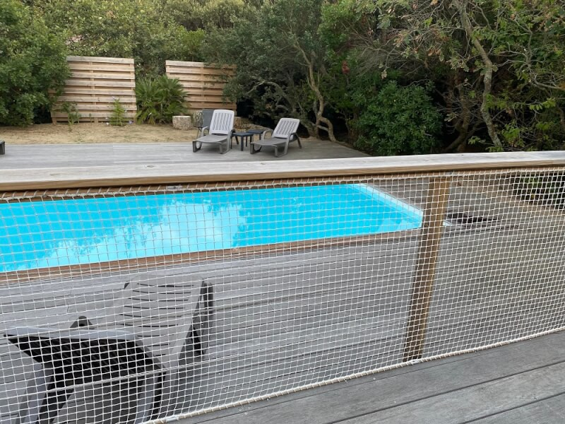 Filet de protection enfant blanc pour piscine