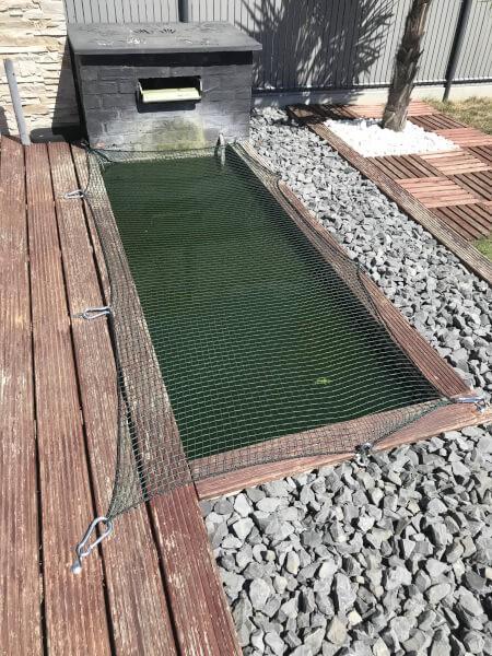 Protection pour enfants sur bassin à poissons
