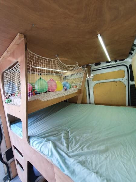 Filet de protection enfant pour lit superposé dans fourgon aménagé