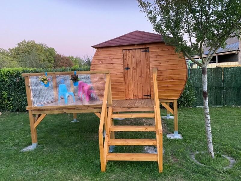 Garde corps pour cabane artisanale