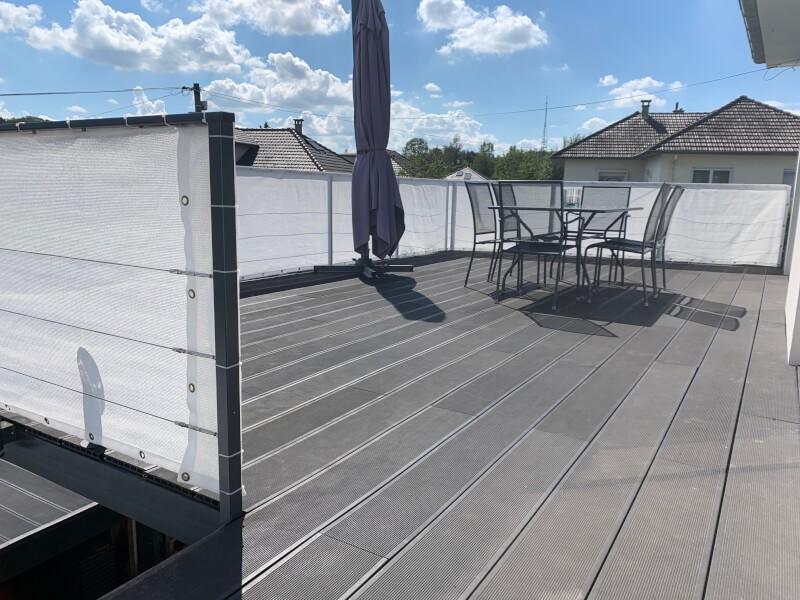 Brise-vue blanc pour garde-corps balcon