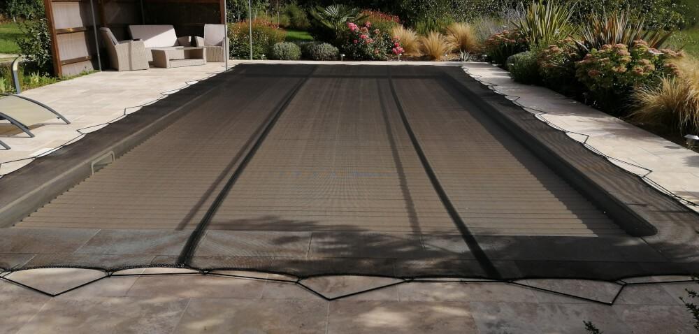 Filet anti-salissures pour piscine noir