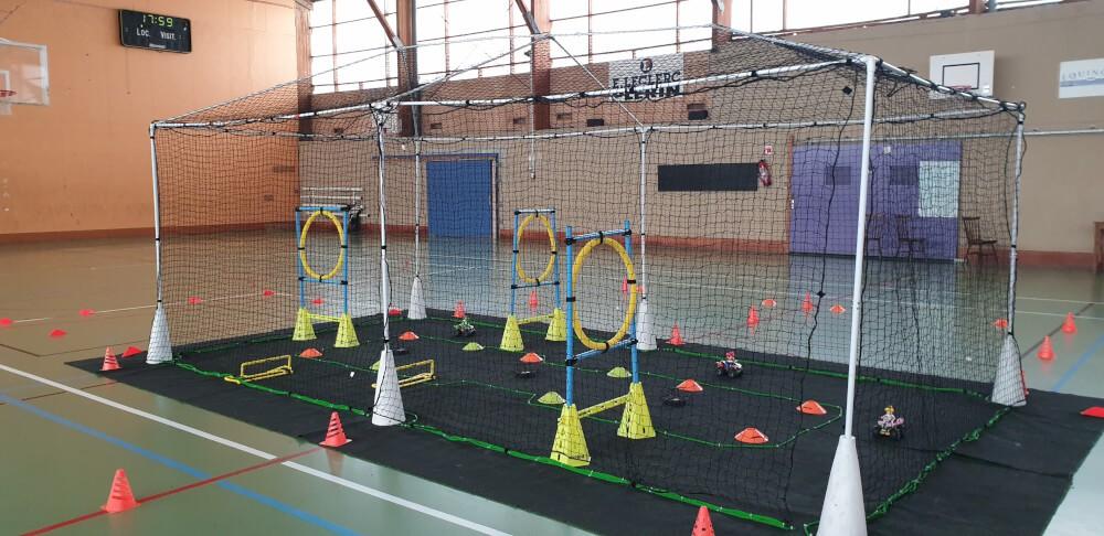 Cage pour drone faite avec des filets