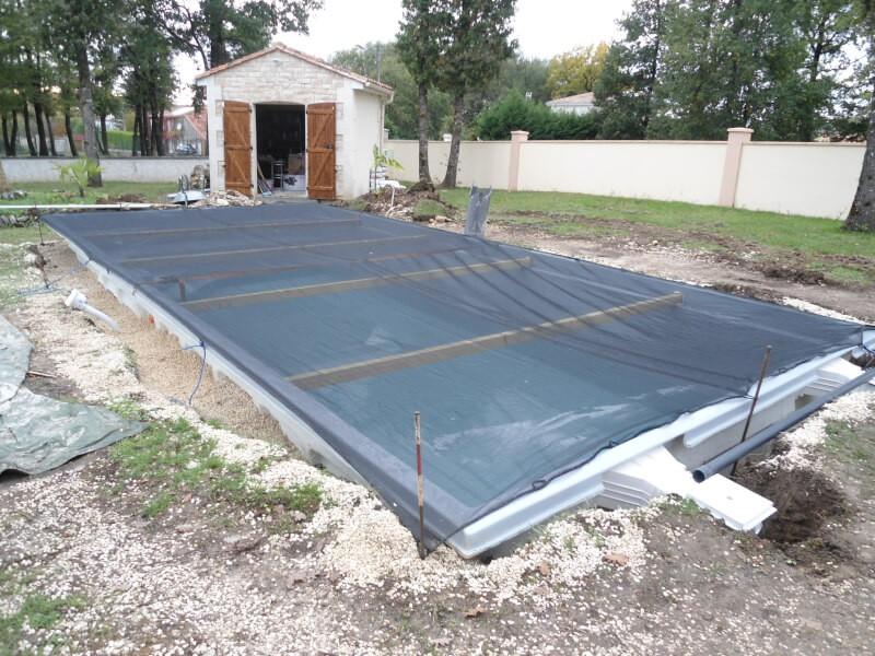Filet de protection contre les saletés et poussières de travaux