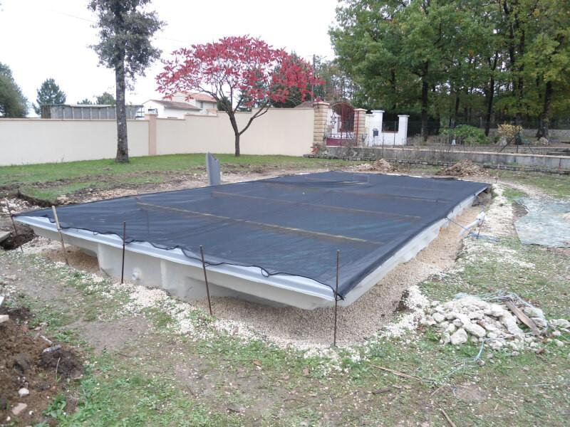Filet piscine contre les poussières et débris de construction