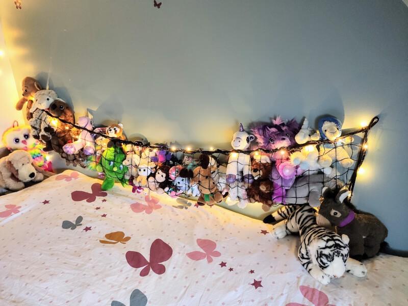 Filet décoration murale pour peluches