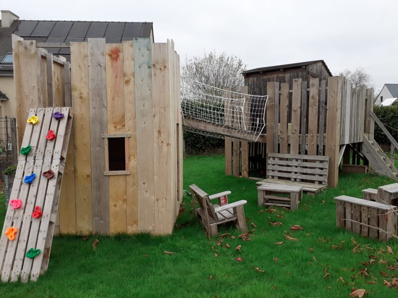 Filet de protection garde-corps pour pont cabane jardin