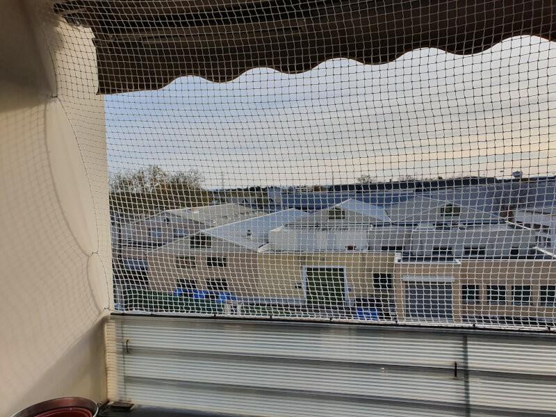 Filet de protection pour chats pour sécuriser totalement une terrasse