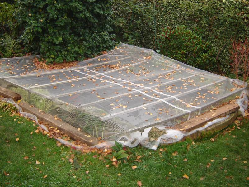 Filet anti-feuilles de bouleaux pour bassin