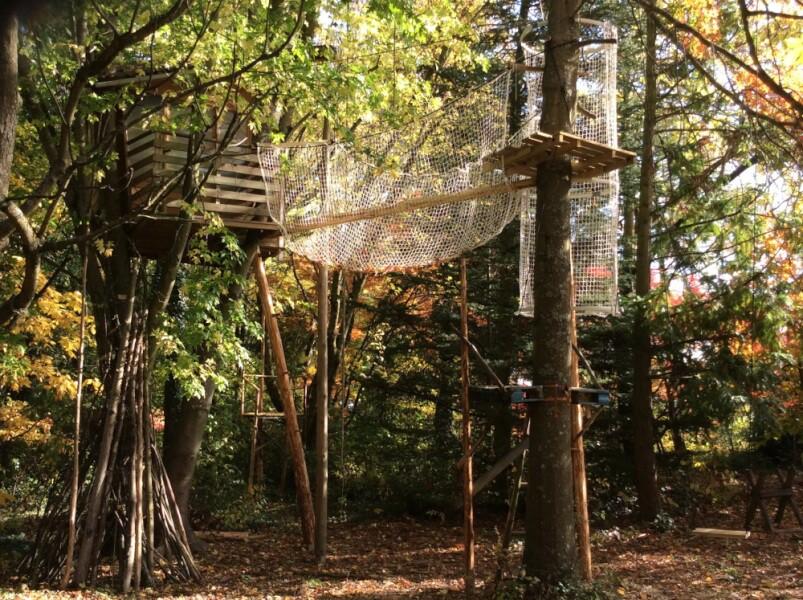 Filet de sécurité anti-chute pour cabane originale dans les arbres