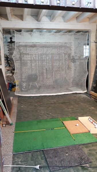 Filet de practice de Golf doublé pour tir à courte portée installation confinement