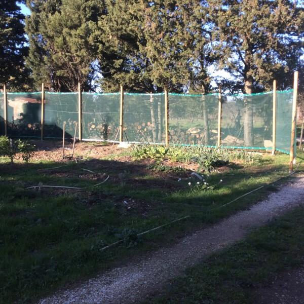 Filet brise-vent - Filtration moyenne pour jardin