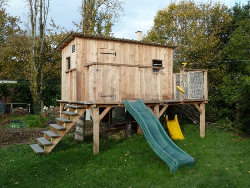 Filet de protection garde-corps pour cabane pour enfants sur pilotis