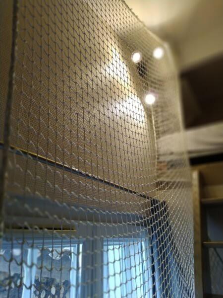 Filet de protection robuste pour sécuriser un lit mezzanine pour enfants