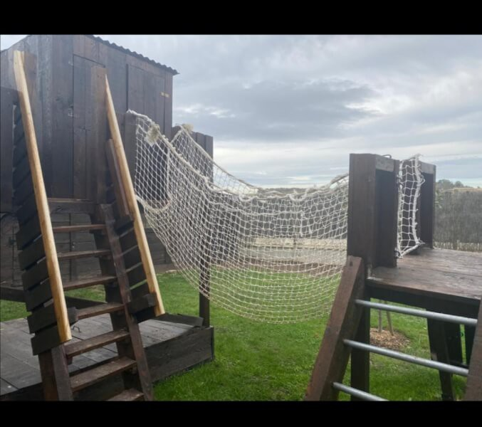 Filet de sécurité anti-chute pour petit pont de singe cabane enfants