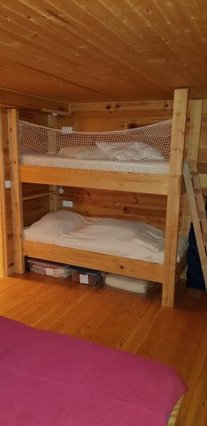 Filet de protection enfants polyamide pour lit double en hauteur