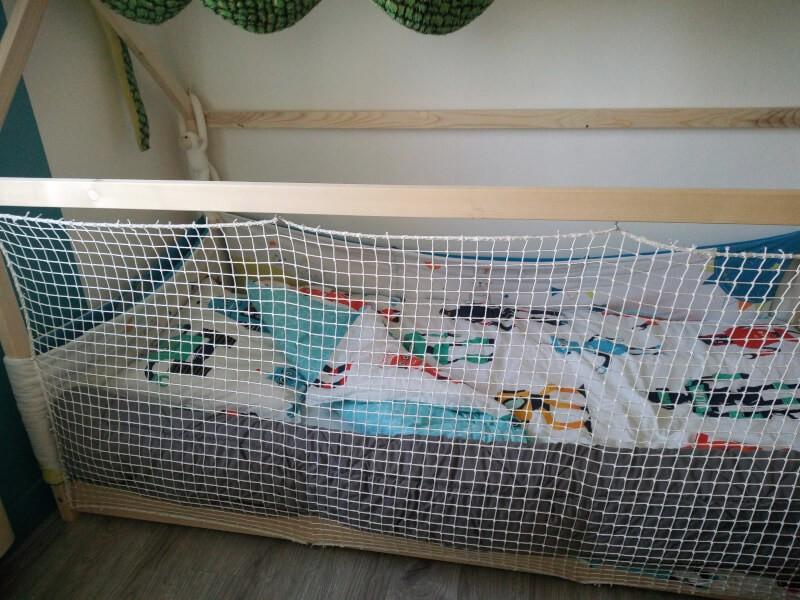 Filet de protection enfants pour créer les murs d'un lit cabane