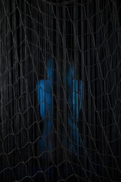 Filet polyamide noir utilisé pour une séance photos