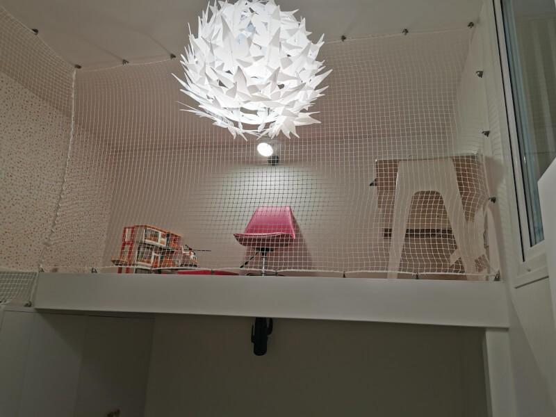 Filet de protection enfants polyamide espace jeux en mezzanine
