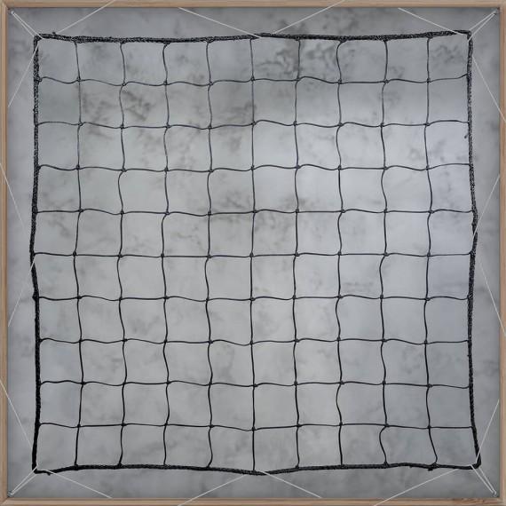 Filet pare-ballons - Mailles 100 mm - ∅ 3,5 mm - Tressé noué