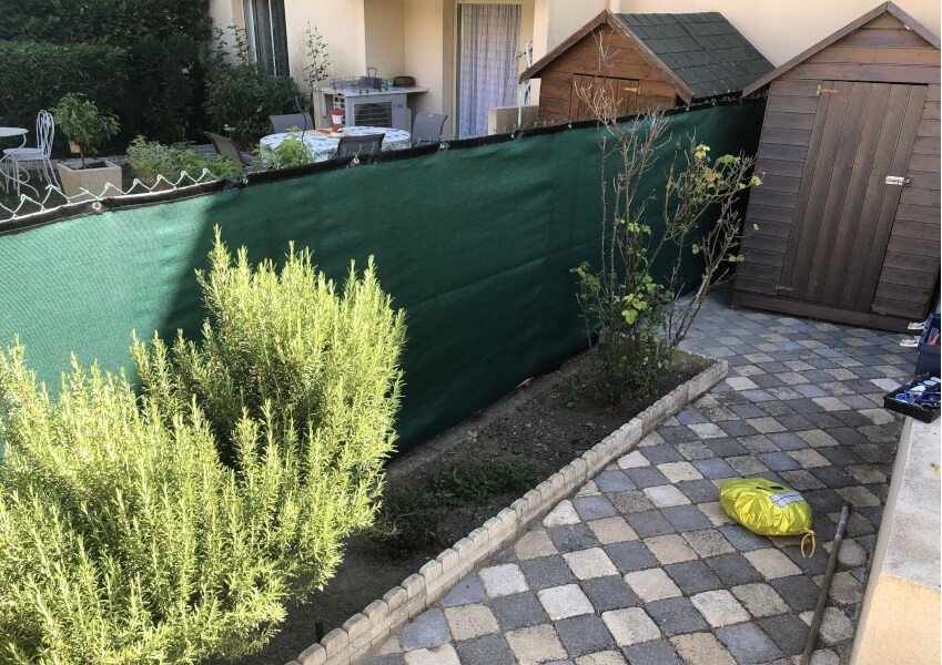 Bâche séparatrice pour jardin
