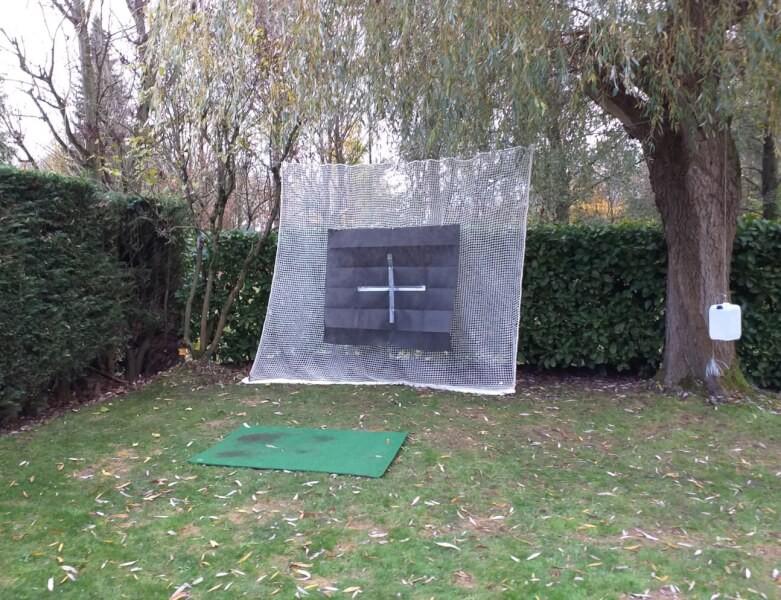 Practice de golf dans mon jardin, avec filet doublé