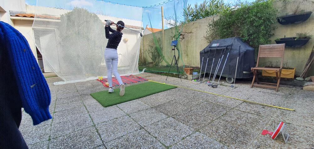 Filet de practice de Golf doublé dans son jardin