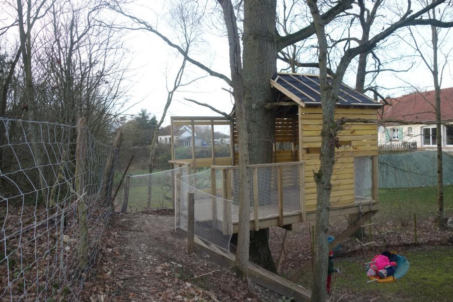 Filets de protection pour la cabane des enfants
