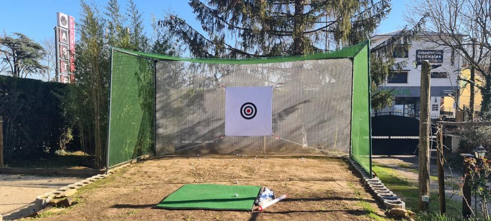 Filet de practice de Golf doublé pour tir à courte portée dans son jardin