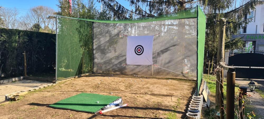 Filet de practice de Golf doublé pour tir à courte portée
