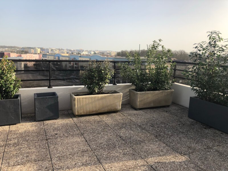 Filet brise-vent moyenne pour terrasse