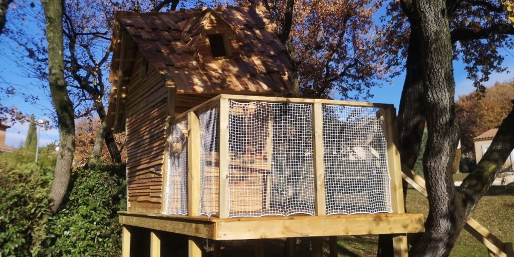 Filet de protection enfants polyamide cabane dans les arbres